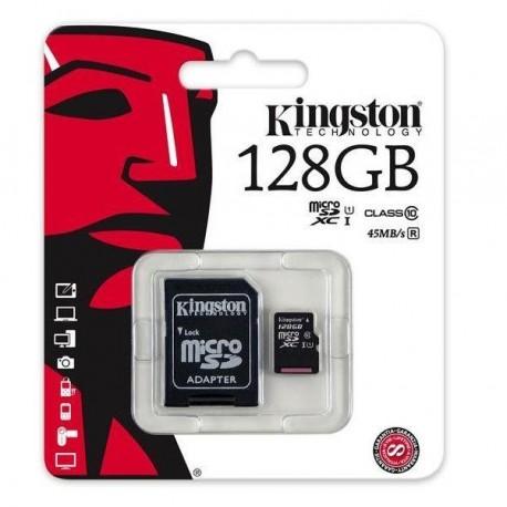 Karta pamięci Kingston microSDXC 128GB Class 10 Gen2 + adapter SD