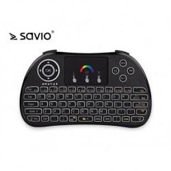 Klawiatura bezprzewodowa SAVIO KW-02 do TV Box, Smart TV, PS3, XBOX360, PC, podświetlana