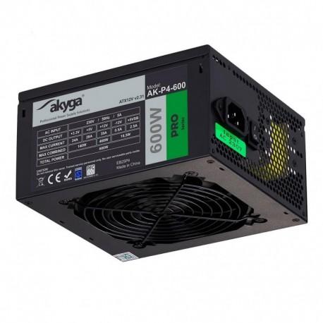 Zasilacz ATX 600W Akyga Pro AK-P4-600 Semi-Modular Fan12cm P8 5xSATA 2xPCI-E