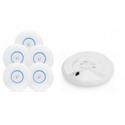Access Point UBIQUITI UniFi UAP-AC-LITE AP AC867 5GHz, N300 2,4GHz 122m 1GbE LAN 5-pack