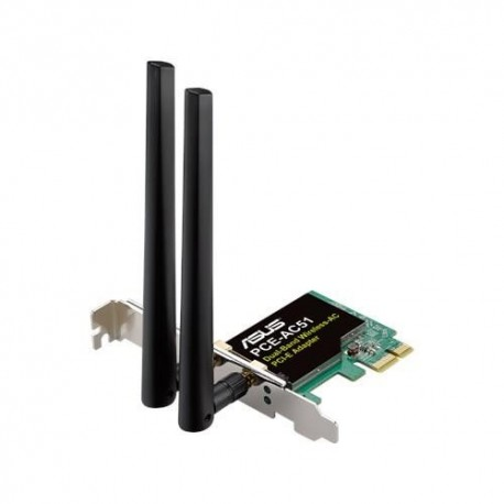 Karta sieciowa ASUS PCE-AC51 Wi-Fi PCI-E AC750 DualBand 2xRSMA