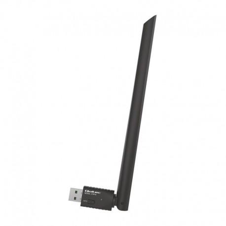 Bezprzewodowy Adapter Wi-Fi Qoltec USB z anteną
