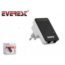 Repeater Everest EWR-523N2 Router WiFi 300 Mbps 2x RJ-45 WAN/LAN Black