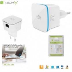 Wzmacniacz sygnału Wi-Fi Techly I-WL-REPEATER7 N300 Wall-Plug