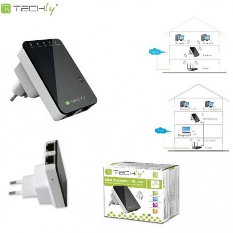 Wzmacniacz sygnału Wi-Fi Techly I-WL-REPEATER2 N300 Wall-Plug