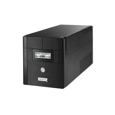 Zasilacz awaryjny UPS Digitus Line-Interactive 1000VA 600W 4xSCH AVR RS USB LCD Czarny