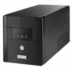 Zasilacz awaryjny UPS Digitus Line-Interactive 1000VA 600W 4xSCH AVR RS USB LED Czarny